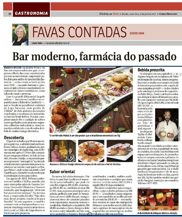 Assessoria de Imprensa :Taj Brasília