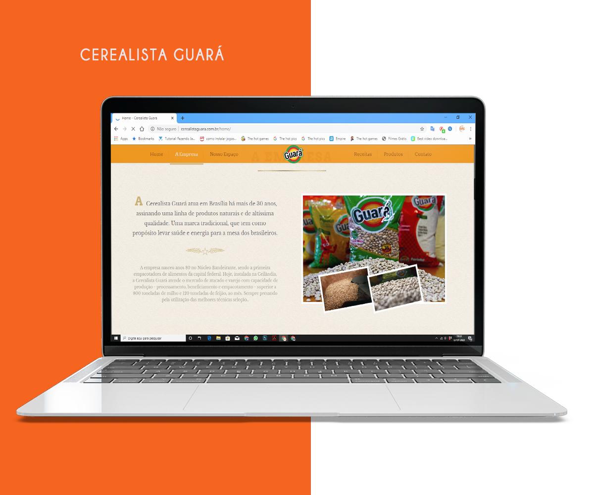 Desenvolvimento de Web Site – Cerealista Guará